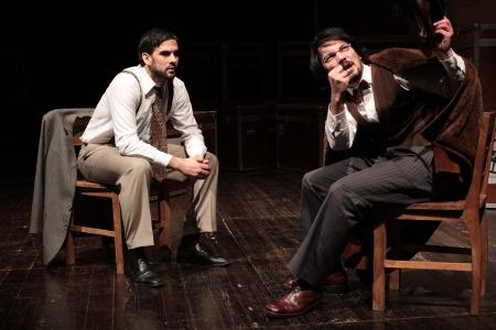 """Miguel Lança e Igor Lebraud, """"Novas diretrizes em tempos de paz"""" (foto de ensaio de Eduardo Pinto)"""