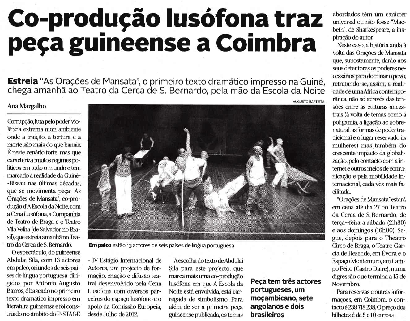 Diário de Coimbra, 16/10/2013