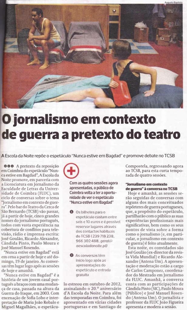 Diário As Beiras, 16/01/2014