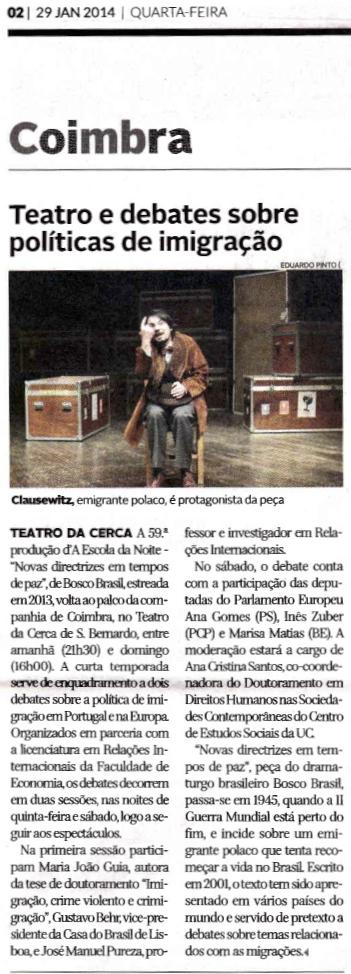 Diário de Coimbra, 29/01/2014