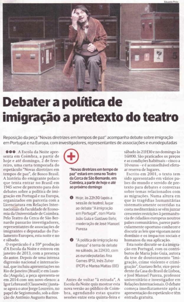 Diário As Beiras, 30/01/2014