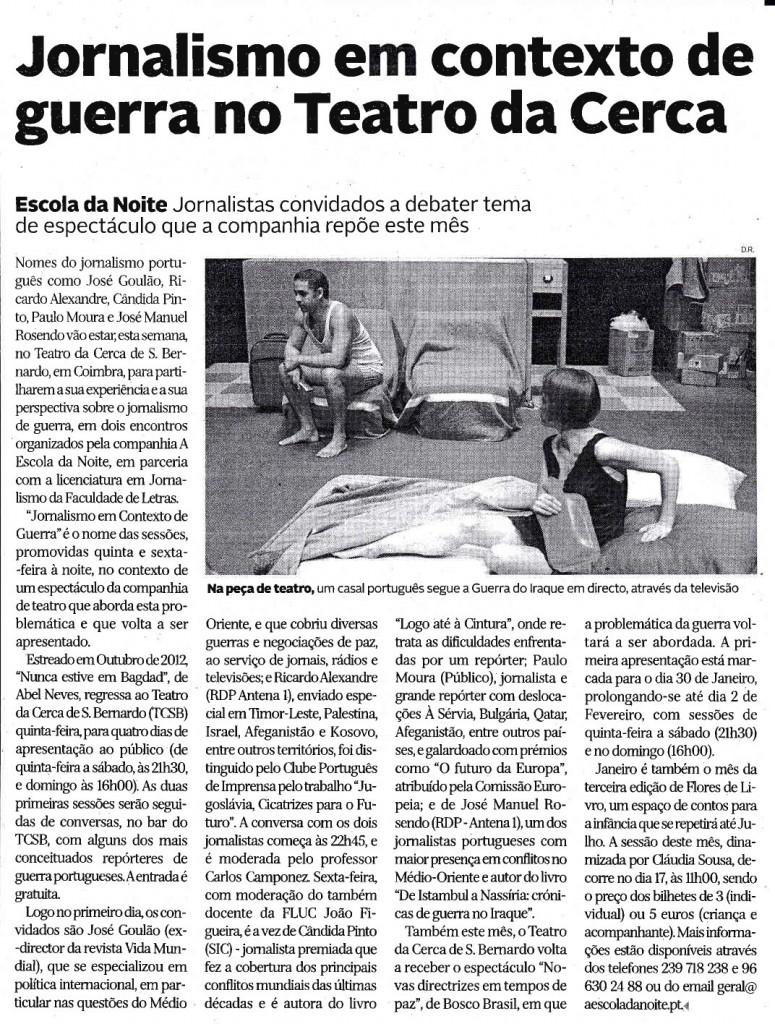 Diário de Coimbra, 13/01/2014
