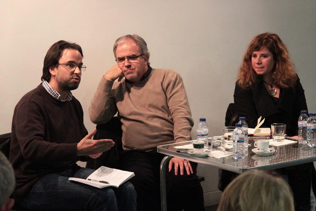 Gustavo Behr, José Manuel Pureza e Maria João Guia (fotos: Eduardo Pinto)