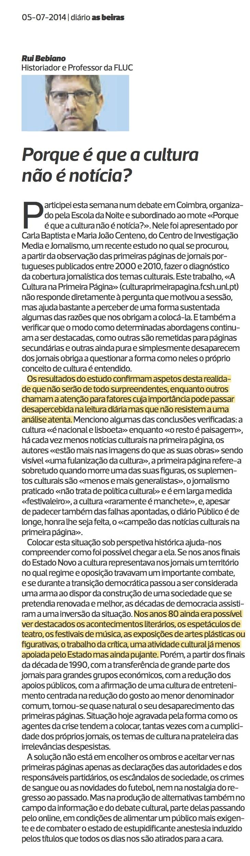 Diário As Beiras, 05/07/2014 (clique para aumentar)