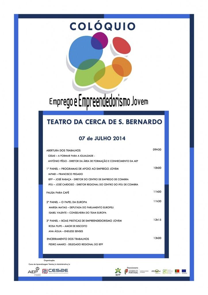 cartaz Emprego e Empreendedorismo