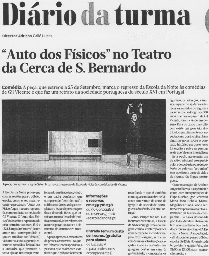 Diário de Coimbra, 08/10/2014