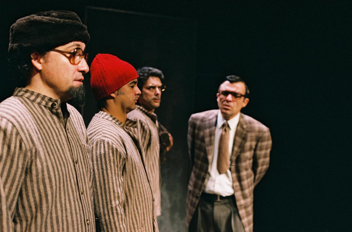 """Jorge Loureiro, Miguel Magalhães, Filipe Eusébio e Ricardo Kalash, """"Da sensação de elasticidade..."""" (foto: Augusto Baptista)"""