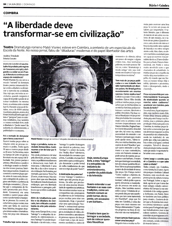 Diário de Coimbra, 14/06/2015
