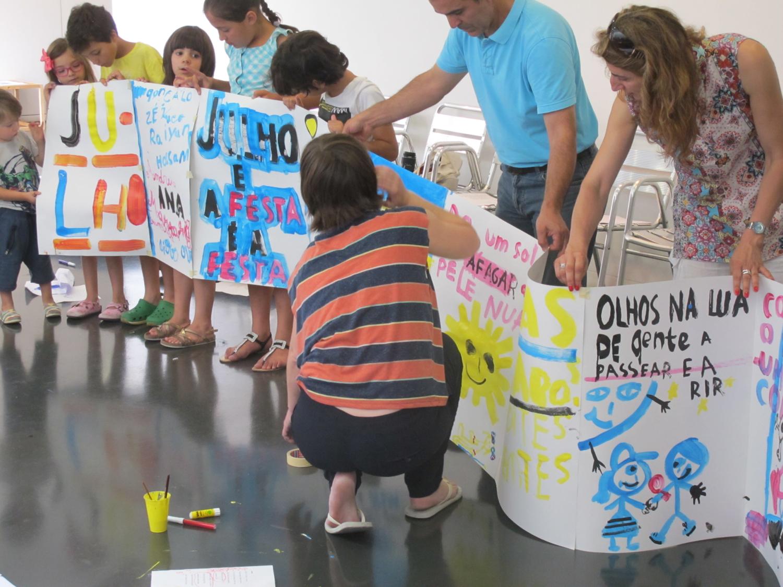 A primeira oficina de ilustração de Ana Biscaia no TCSB, em Julho de 2015.