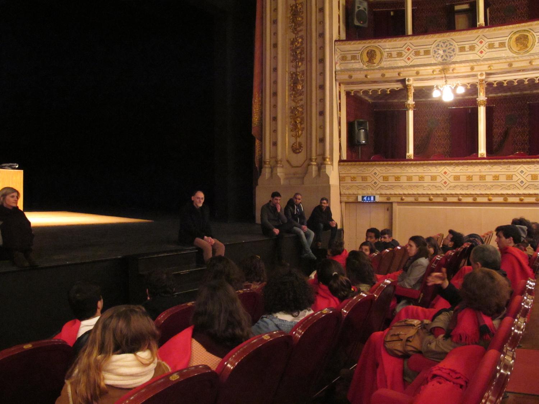 Conversa com alunos do curso de Teatro da Universidade de Évora, 18/02/2016