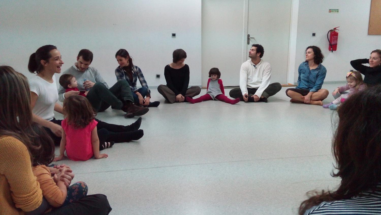 Dança para pais e filhos, com Leonor Barata (foto: Jorge Loureiro)
