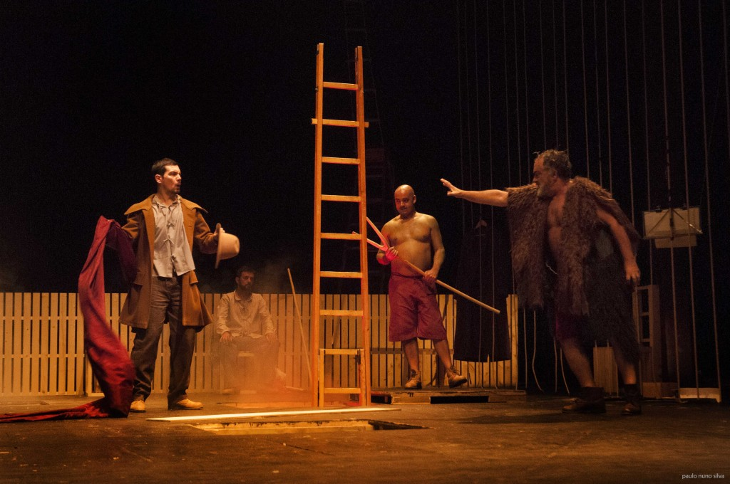 """Igor Lebreaud, Jorge Baião, Miguel Magalhães e José Russo, """"Embarcação do Inferno"""" (foto: Paulo Nuno Silva)"""