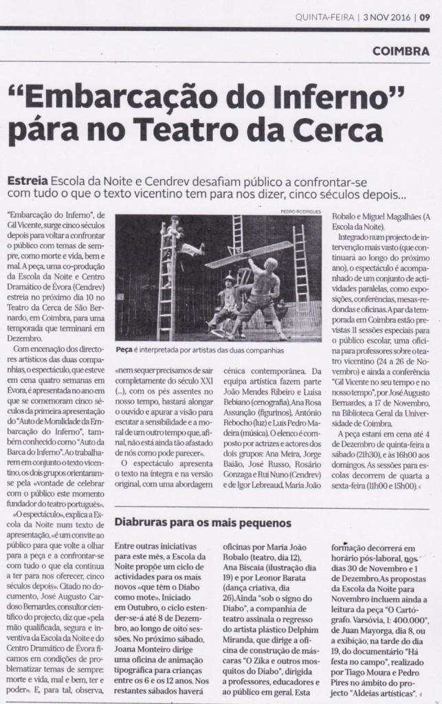 Diário de Coimbra, 03/11/2016