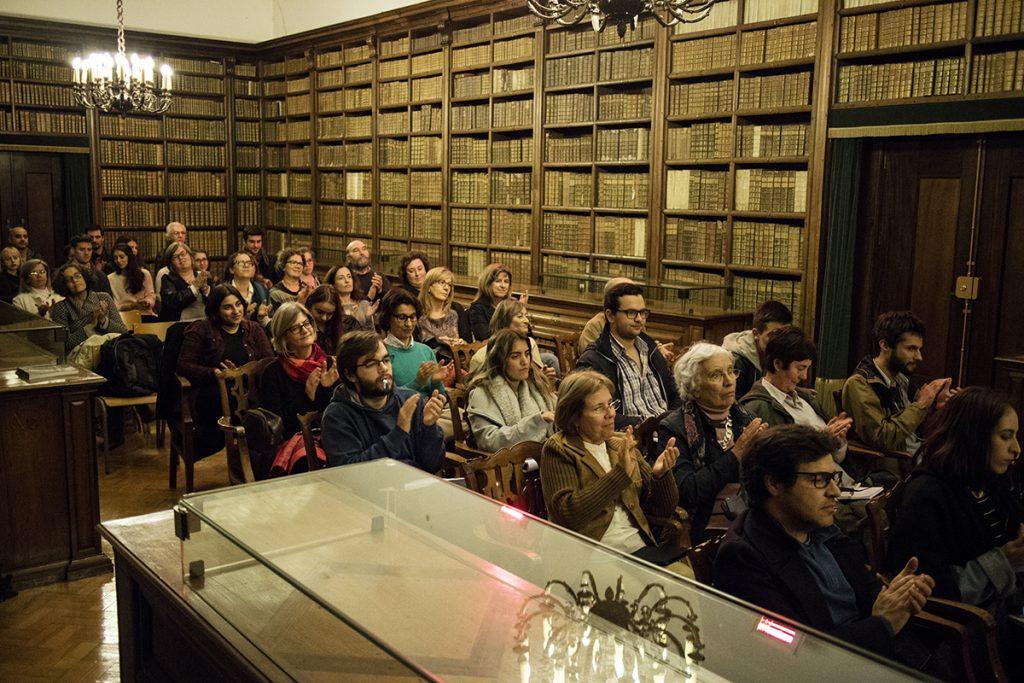"""Conferência """"Gil Vicente no seu tempo e no nosso tempo"""" - Sala de São Pedro da Biblioteca-Geral da Universidade de Coimbra, 17/11/2016 (foto: Eduardo Pinto)"""