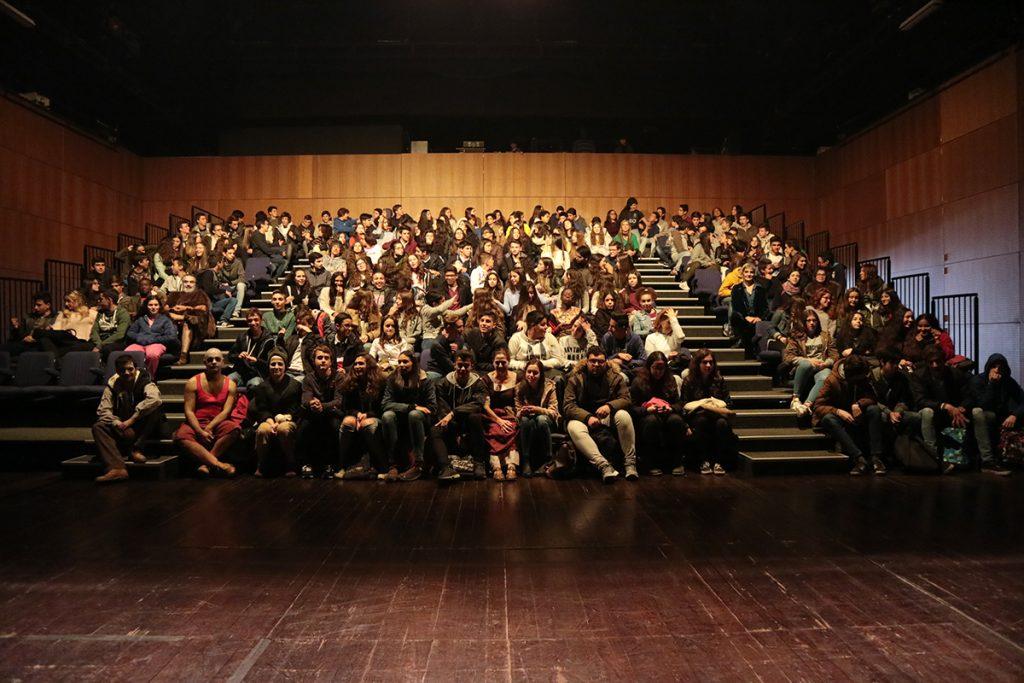 Embarcação do Inferno: sessão para o público escolar no Teatro da Cerca de São Bernardo, em Coimbra (Nov/2016)