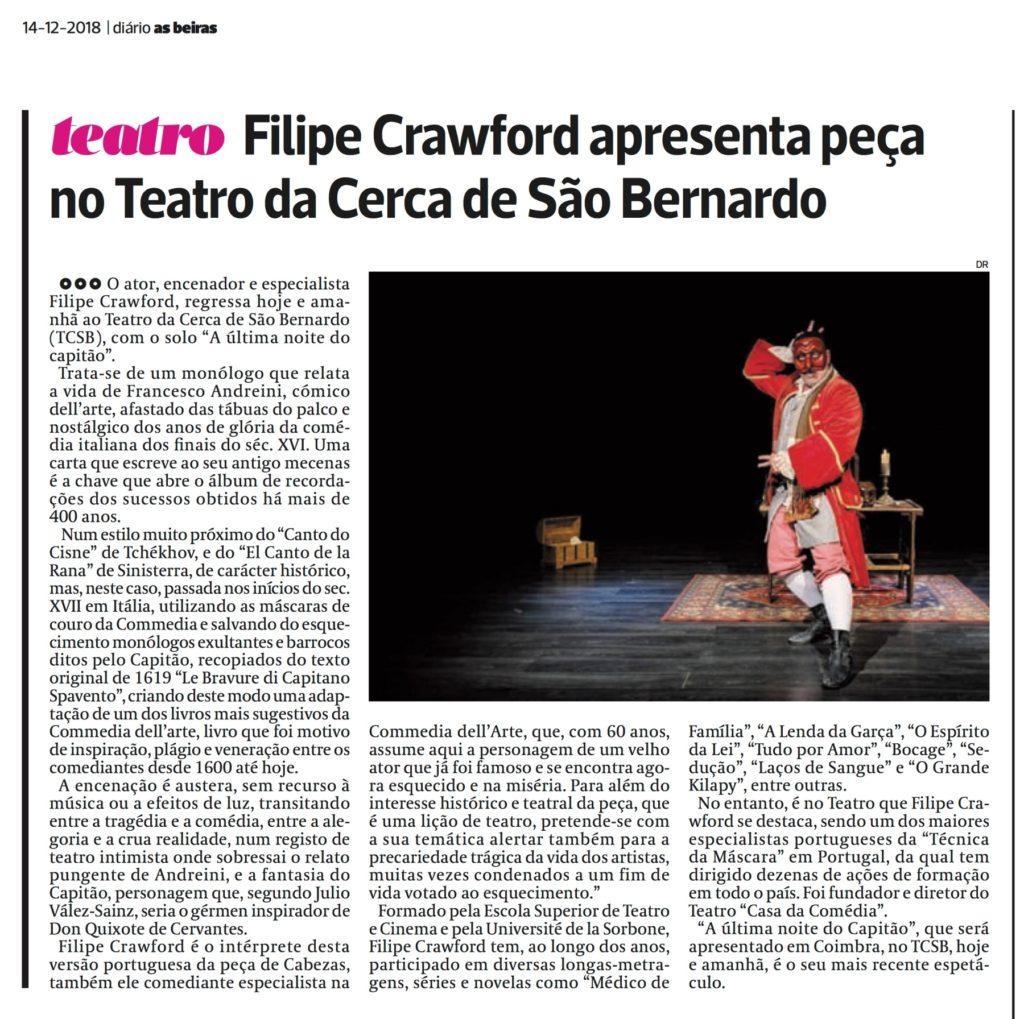 Diário As Beiras, 14/12/2018