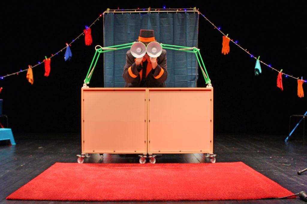 """Circo Quotidiano"", Marionetas da Feira / Blue House (foto de ensaio: Pedro Rodrigues)"