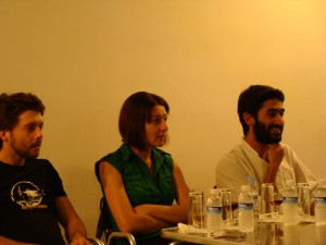 Pedro Gil, Ana Lúcia Palminha e Miguel Jesus