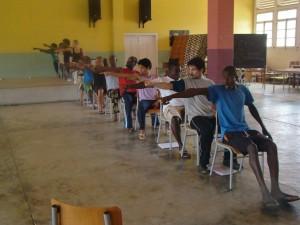 """ensaios """"As Orações de Mansata"""" em São Tomé e Príncipe (foto: Sofia Lobo)"""
