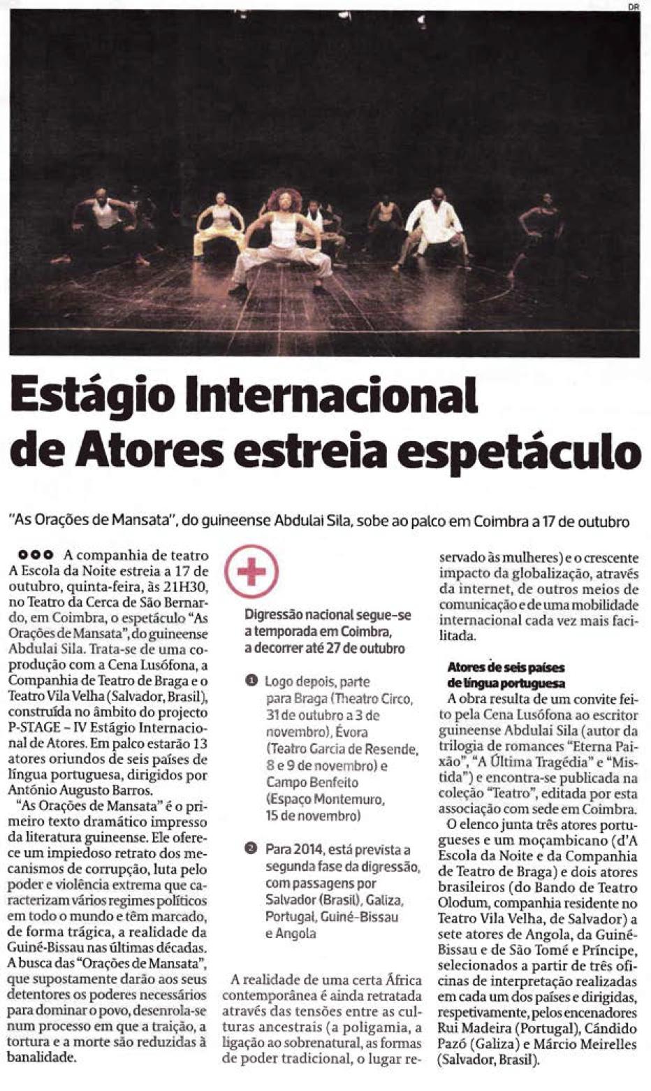 Diário As Beiras, 12/10/2013