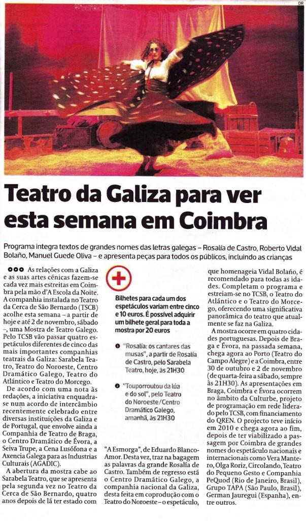 Diário As Beiras, 30 de Outubro de 2013