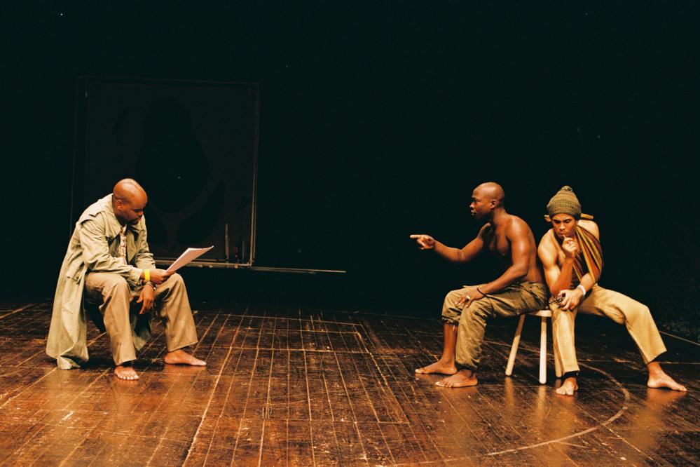 Rogerio Boane, Trindade Costa e Ridson Reis (foto de ensaio de Augusto Baptista)