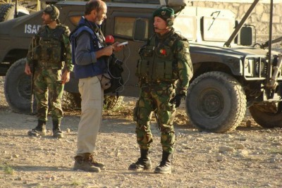 José Manuel Rosendo em reportagem no Afeganistão (foto: Duarte Costa. reproduzida em www.esquerda.net)