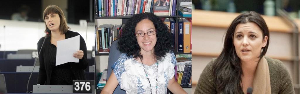 Inês Zuber, Ana Cristina Santos e Marisa Matias