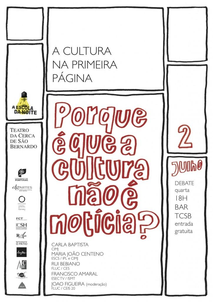 a cultura na primeira pagina