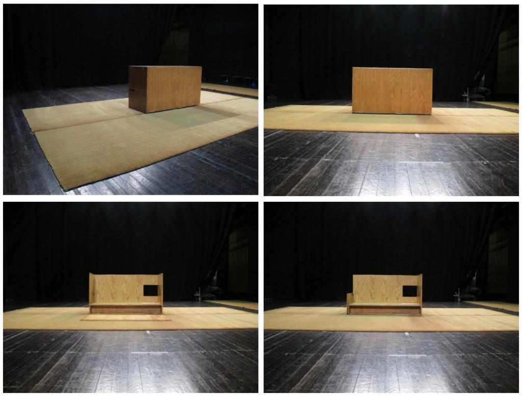 """A """"caixa vicentina"""" - objecto cénico de João Mendes Ribeiro (fotos: Pedro Rodrigues)"""