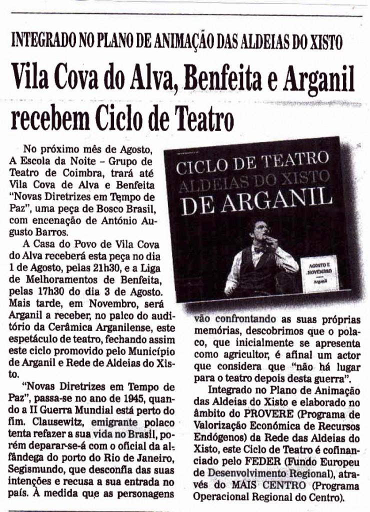 A Comarca de Arganil, 17/07/2014
