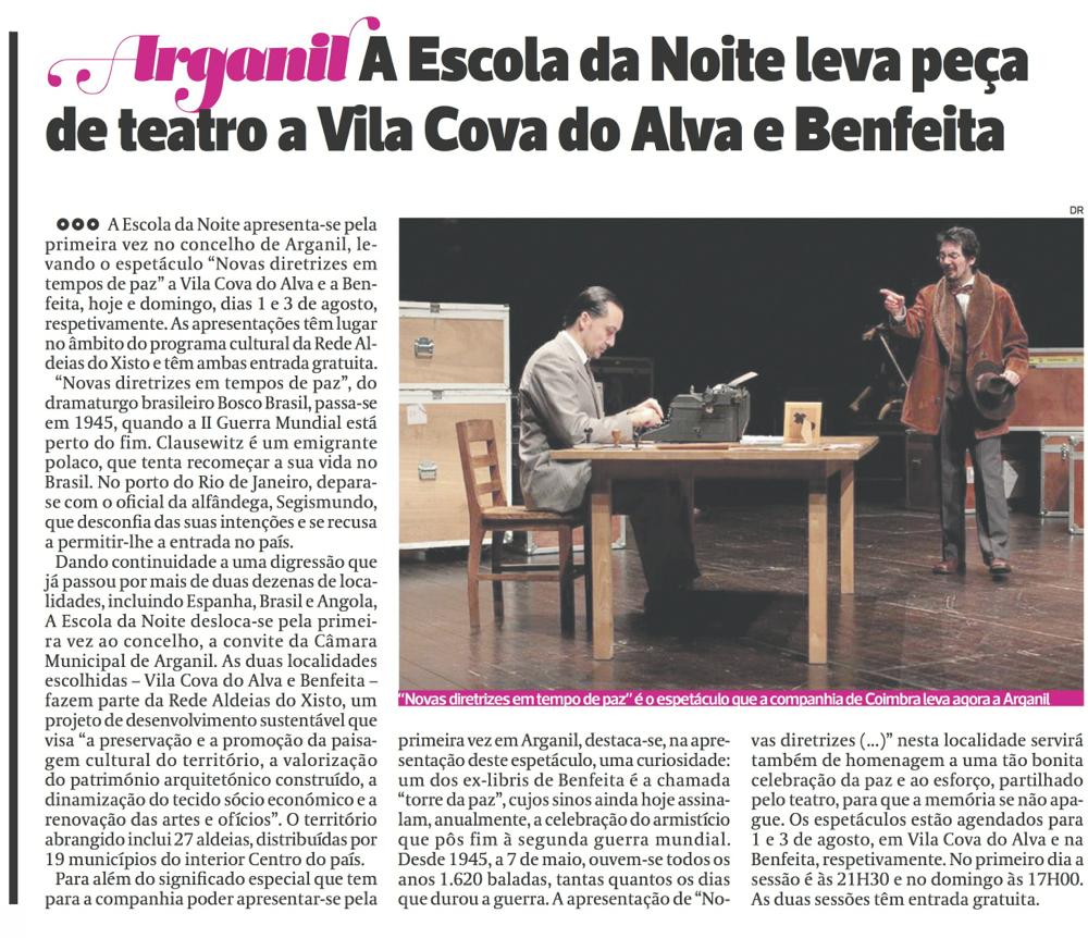 Diário As Beiras, 01/08/2014