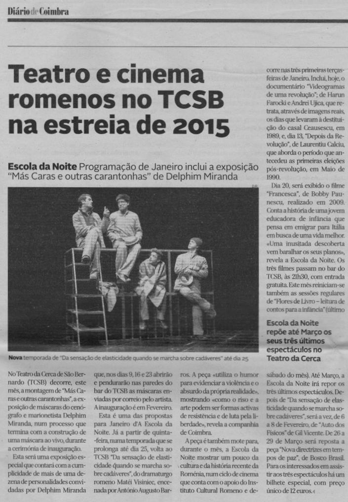 Diário de Coimbra, 6 de Janeiro de 2015