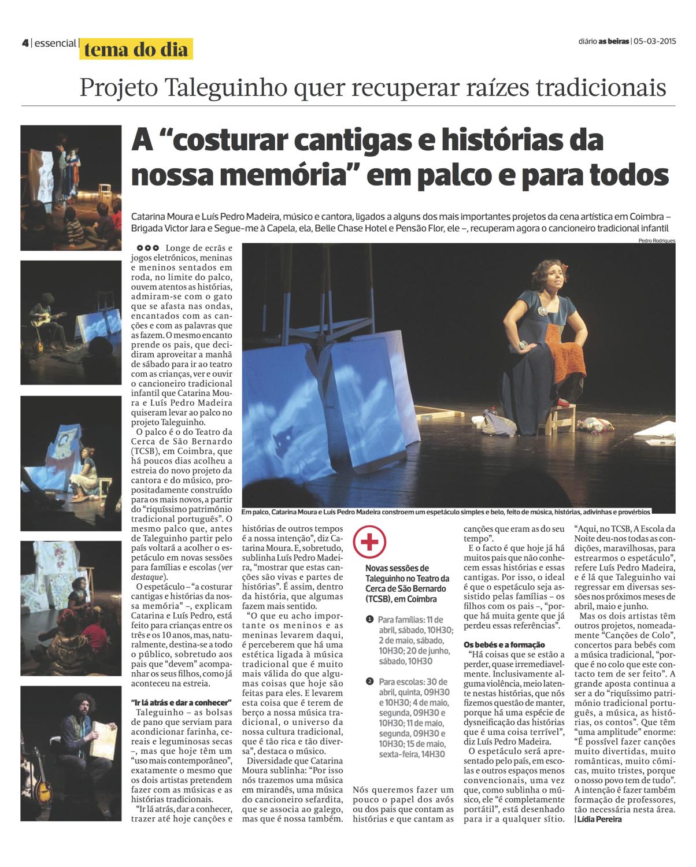 Diário As Beiras, 05/03/2015