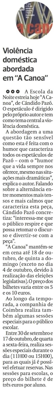Diário As Beiras, 17/09/2015