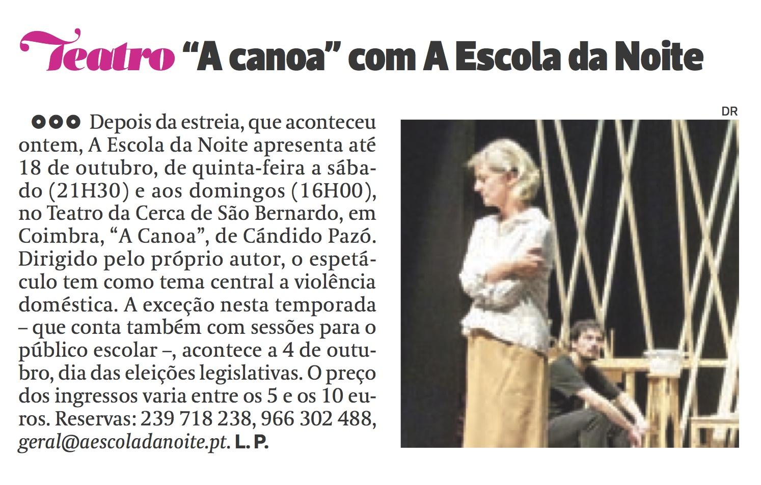 Diário As Beiras, 18/09/2015