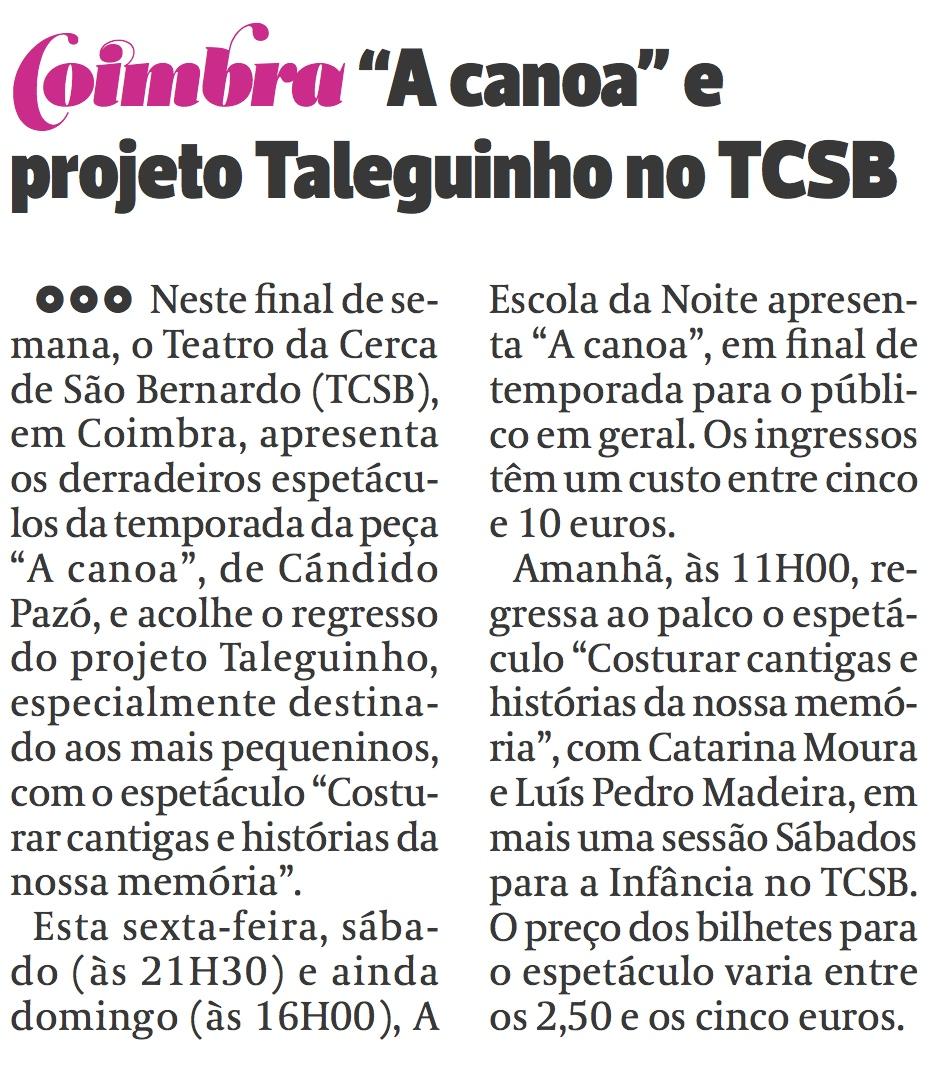Diário As Beiras, 16/10/2015