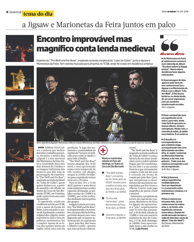 Diário As Beiras, 13/04/2016