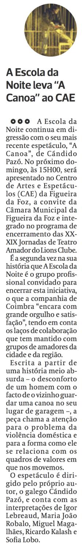 Diário As Beiras, 26/05/2016