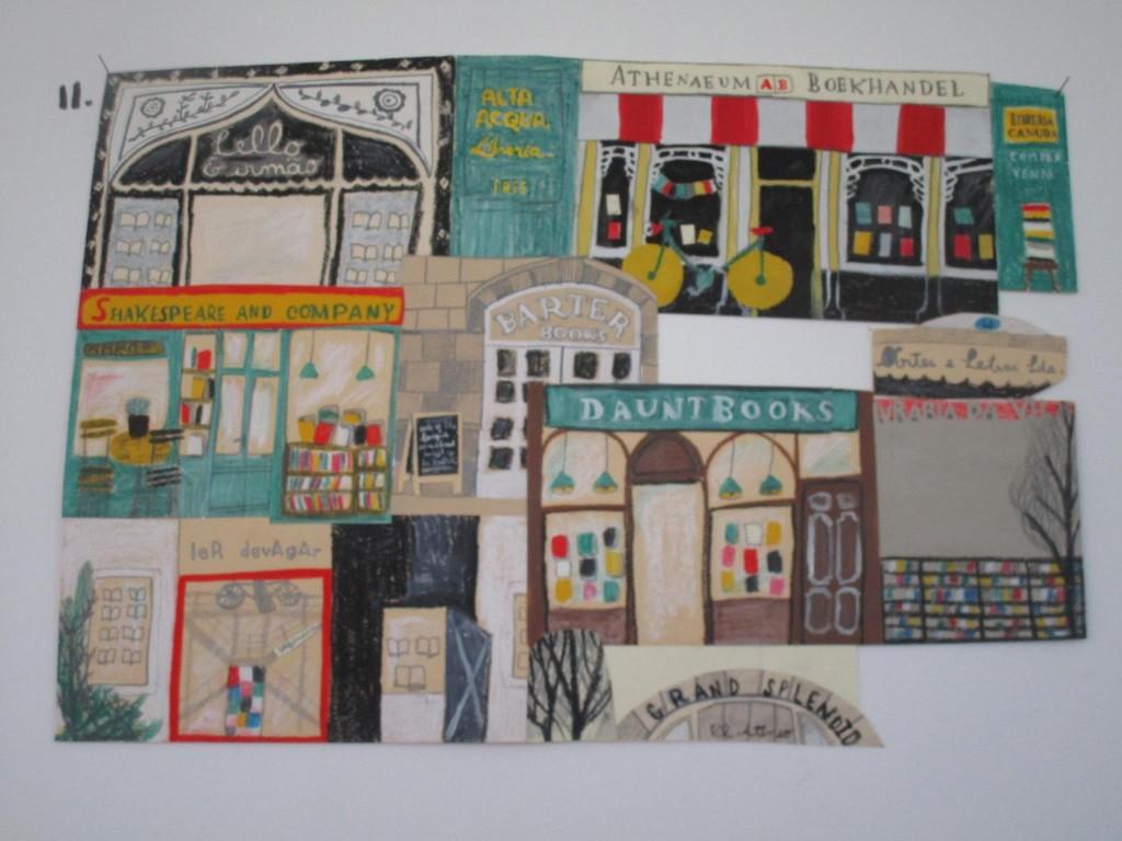 """ilustração de Catarina Sobral na exposição """"A parede dos desenhos"""", na Casa da Esquina (foto: RUC)"""
