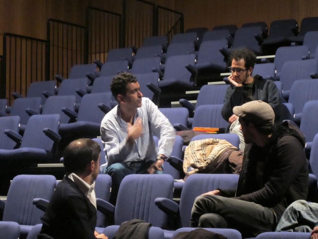 Juan Mayorga no TCSB, no âmbito das Jornadas de Dramaturgia Espanhola Contemporânea, organizadas pel'A Escola da Noite (Novembro/2011)