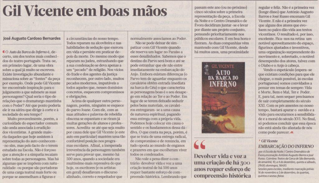 Jornal de Letras, 09/11/2016