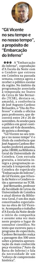 Diário As Beiras, 16/11/2016