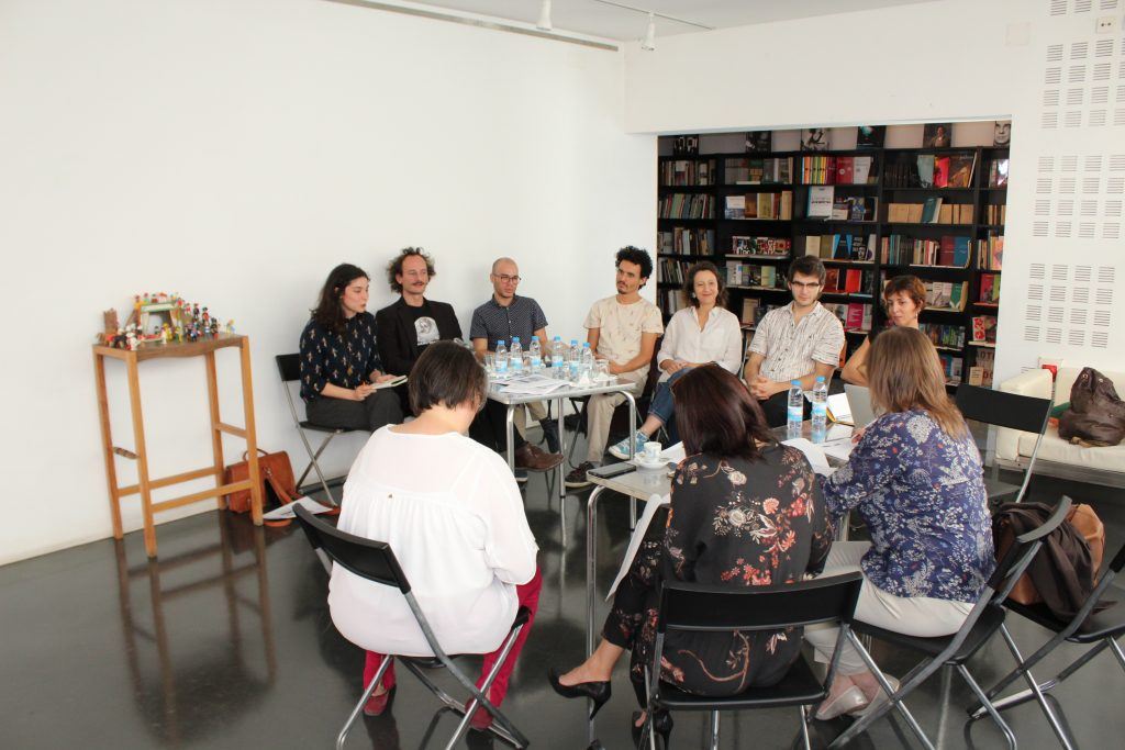 """O colectivo """"Público x Lorca"""" na conferência de imprensa de apresentação do projecto - Coimbra, TCSB, 25/10/2017 (foto: Pedro Rodrigues)"""