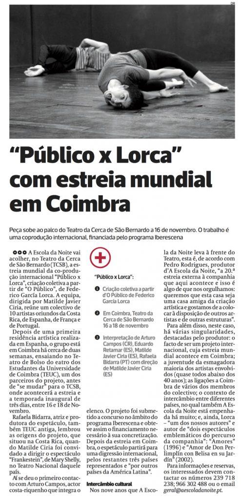 Diário As Beiras, 13/11/2017