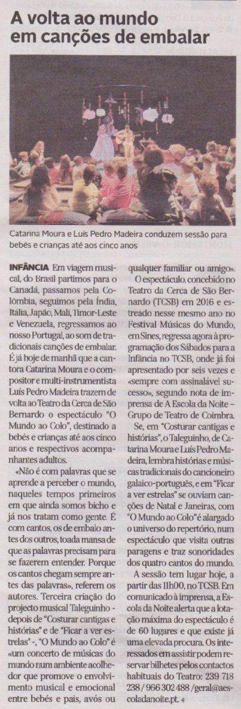 Diário de Coimbra, 06/01/2018