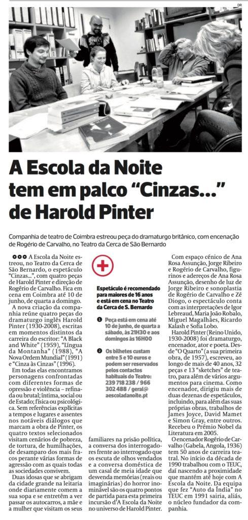 Diário As Beiras, 19 de Maio de 2018