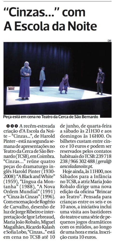 Diário As Beiras, 26/05/2018